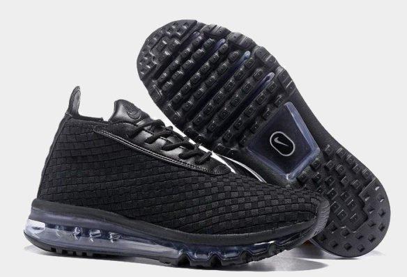 Фото Nike Air Max Woven Boot черные - 3