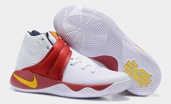 Фото Nike Kyrie 2 бело-красные - 2