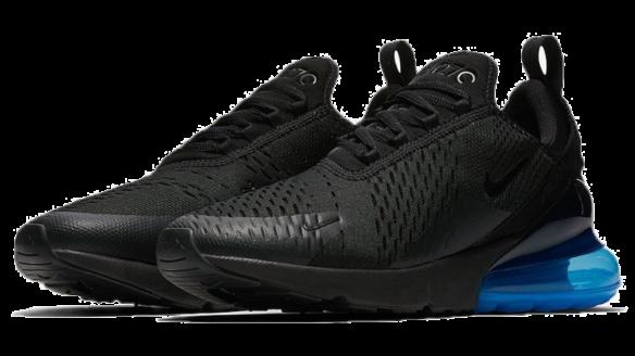 Фото Nike Air Max 270 Черные с Синим - 1