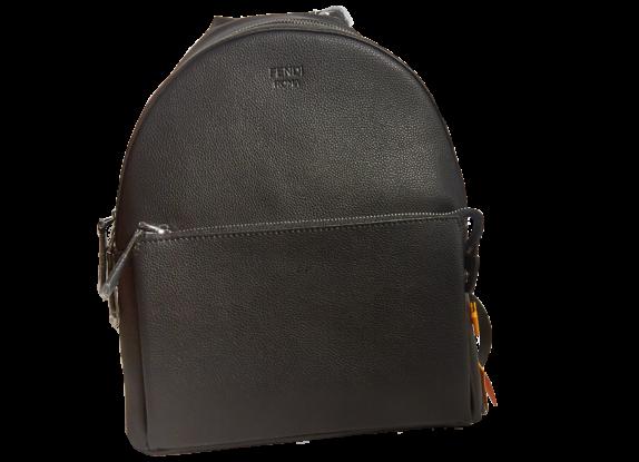 Фото черный кожаный рюкзак - 1